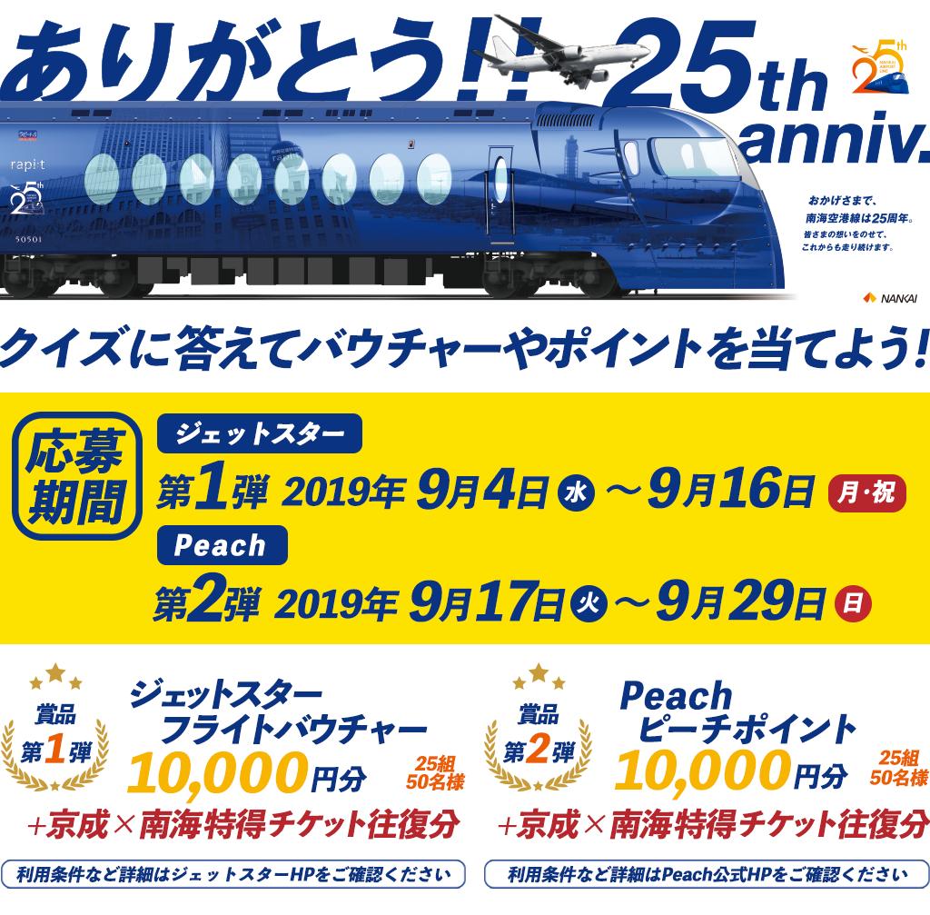 関空から旅行に行こう!クイズキャンペーン 【第2弾】